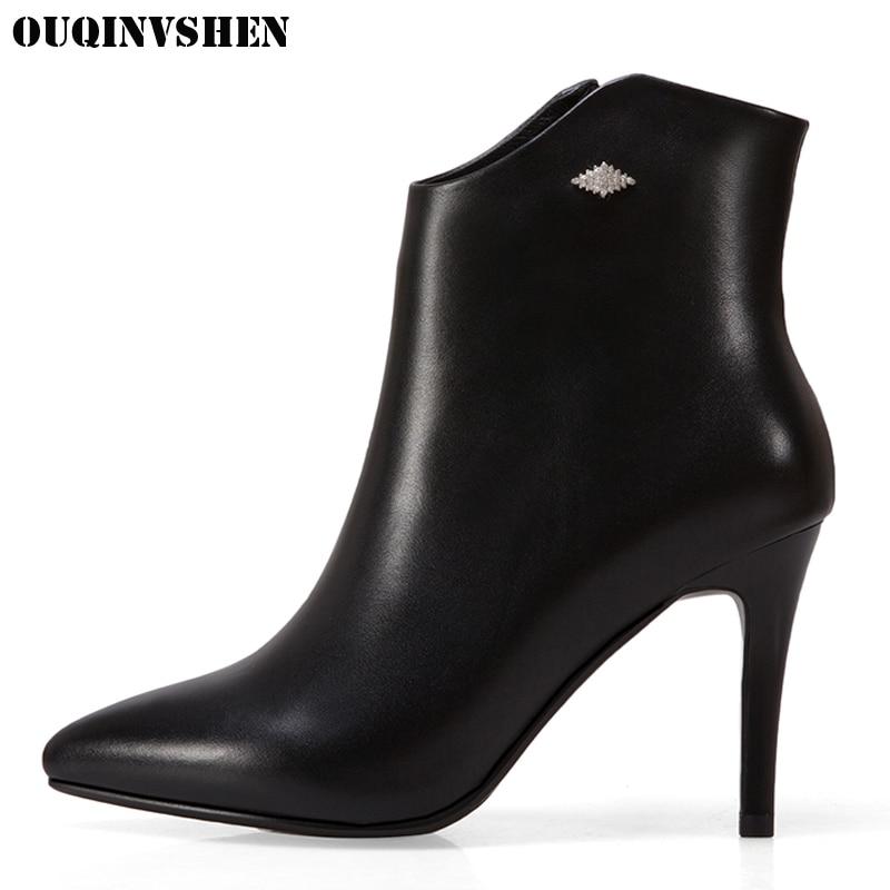 Фотография OUQINVSHEN Pointed Toe Thin Heels Women