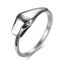 Mens Ouroboros Snake Rings in Silver Tone High Polished Stainless Steel Tail- devourer Male Men Fashion Jewelry(China)