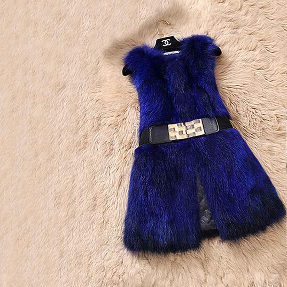 Из натурального меха серебристой лисы, жилет природа Для женщин лисий мех жилет фабрика изготовленный на заказ большие размеры, куртка из искусственного меха, TFP872 - Цвет: Sapphire