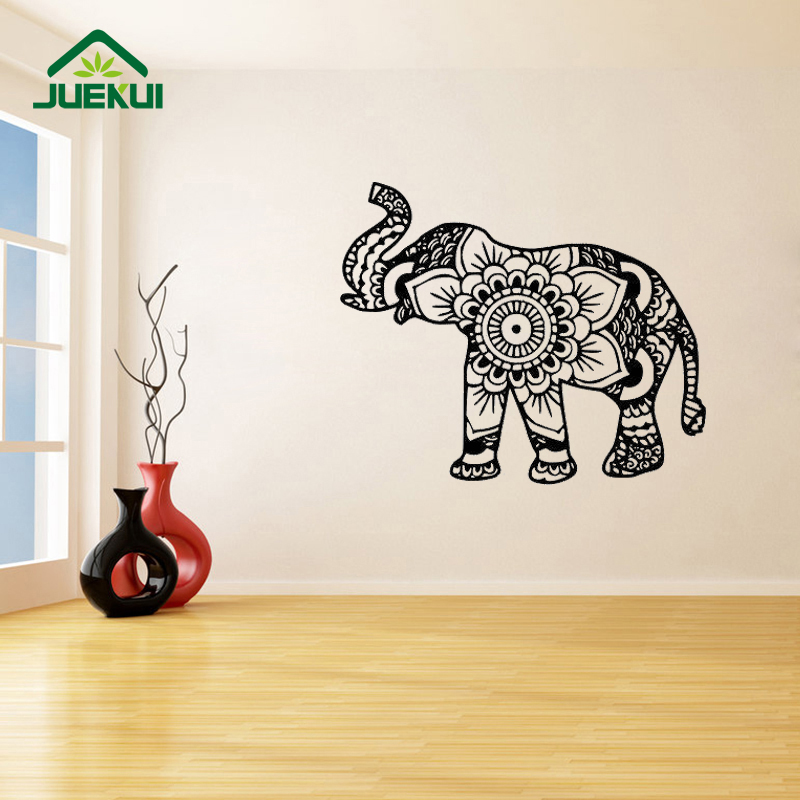 Mandala Elephant Fashion Pattern Removable Wall Stickers For