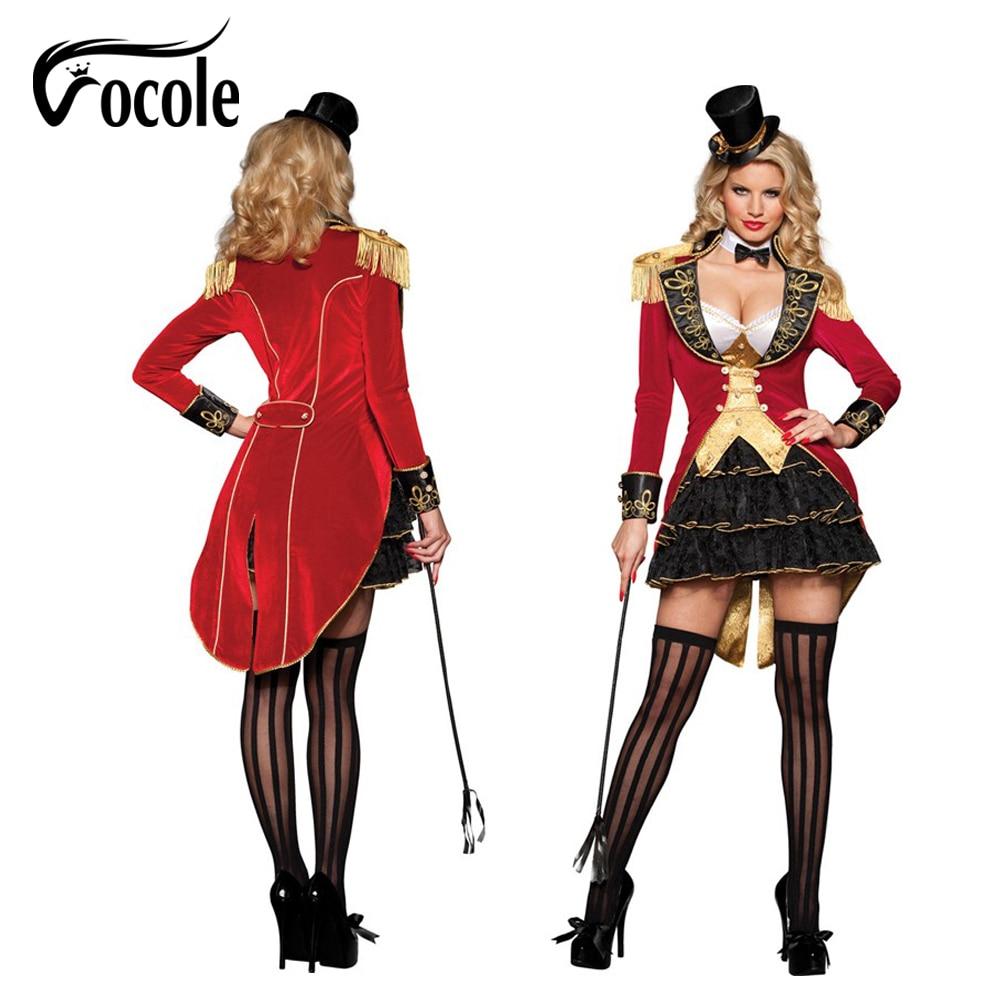 Halloween Women Deluxe Sexy Ringmaster Lion Tamer Costume Circus ...
