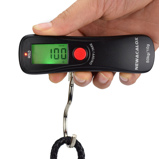Scale Weight Luggage Scale Digital Travel Hanging Hook ScaleNEWACALOX 50kg x 10g Mini Portable Electronic