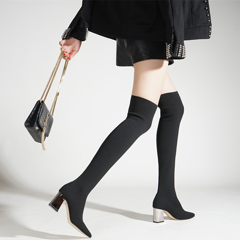 boots pointed toe stretch