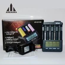 OPUS BT-C3100 Cargador de Batería Digital Inteligente 4 Ranuras LCD Para Li-ion NiMH NiCd AA AAA 10440 18650 Baterías Recargables