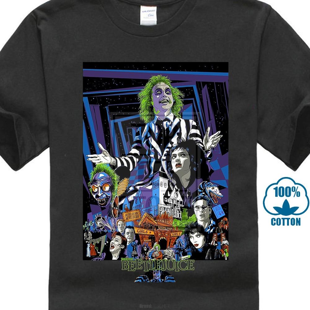 New Popular Beetlejuice American Classic Horror Movie Men'S Black T Shirt S 3Xl