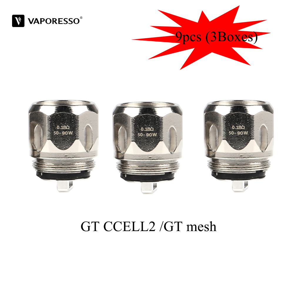 9pcs Vaporesso GT mesh GT CCELL2 Coil 0.18ohm 0.3ohm Electronic Cigarette Accessories For Cascade Baby Tank Vape