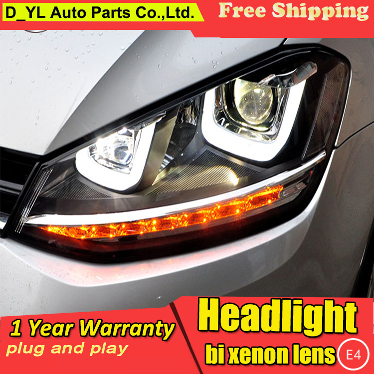 car styling for vw golf 7 gti headlights 2010 2012 golf mk7 gti led headlight drl lens double. Black Bedroom Furniture Sets. Home Design Ideas