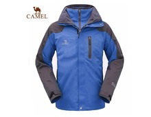 Camel outdoor jacket male waterproof thermal fleece three-in twinset outdoor jacket2F01001