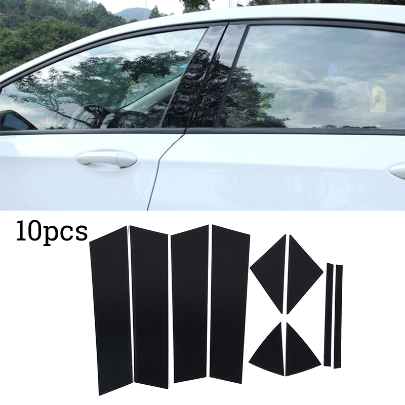 Image 3 - 10pcs PC Plastic Cement Window Pillar Posts Trim Set Cover Molding For Mazda 3 Axela 2014 2015 2016 2017 Car Styling-in Car Stickers from Automobiles & Motorcycles