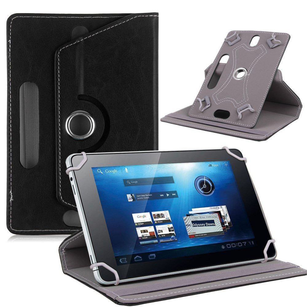 цены 360 Rotating PU Leather cover case For Alcatel OneTouch Pixi 4 (7) 3G 7 inch Universal Tablet Stand cases