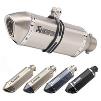 Inlet 51mm Akrapovic Exhaust Pipe Muffler Tube Motorcycle Right Left Universal Motorbike Pitbike Scooters Escape Moto DB Killer