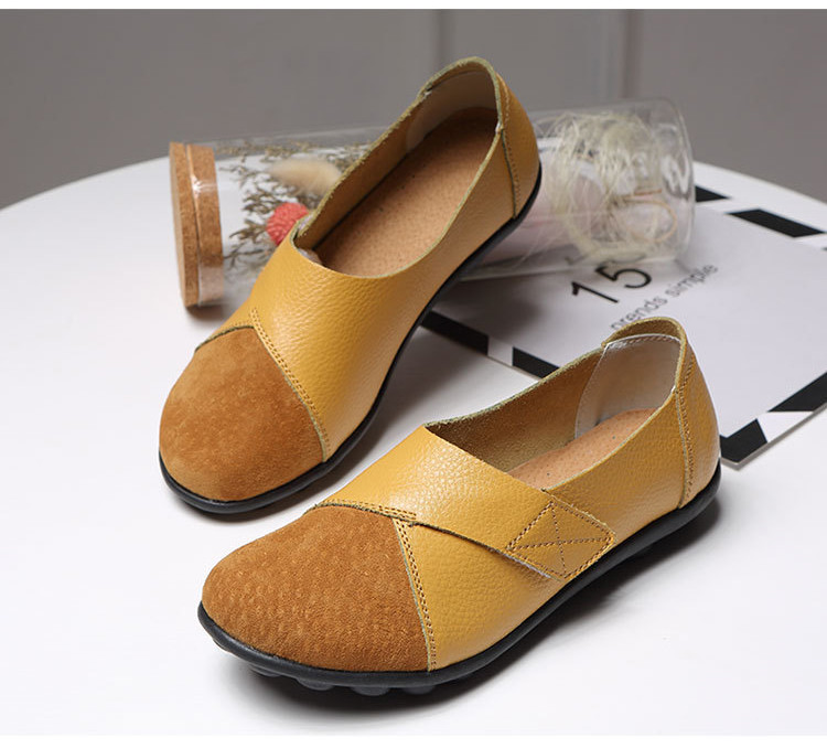 AH 1987-2019 Spring Autumn Women's Shoes Genuine Leather Woman Loafers-2