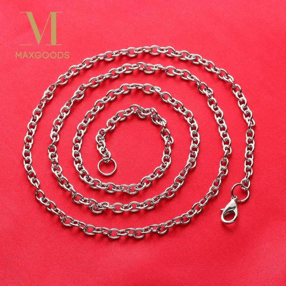 1/2/3pcs  60CM  Stainless Steel Chain Necklace Silver Color Lobster Clasp Cable Link Necklace Punk Chain Necklace Men Jewelry