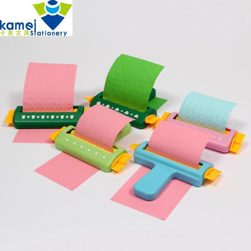 New fancy DIY Tangan alat Mesin Kertas Embossing Craft Embosser Untuk Kertas Scrapbooking Sekolah Bayi Hadiah YH49