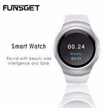 Funsget smart watchบลูทูธนาฬิกาข้อมือโทรศัพท์มือถือหน้าจอสัมผัสอังกฤษรัสเซียสเปนภาษาสำหรับiphone androidอุปกรณ์