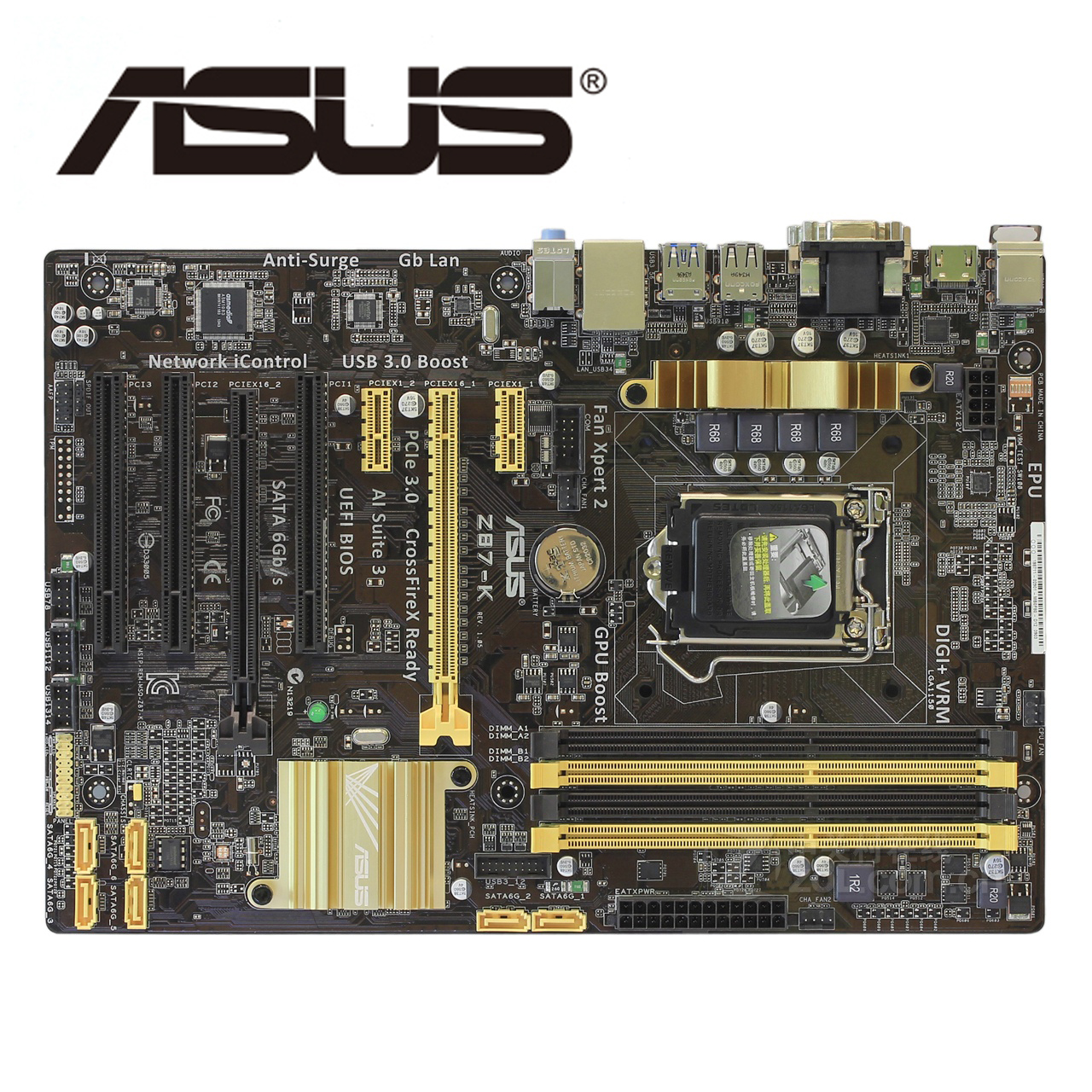LGA1150 DDR3 Z87 For ASUS Z87-k 100% Original Motherboard32G Z87K Desktop Mainboard Mother Board USB3.0 SATA III VGA OC Used