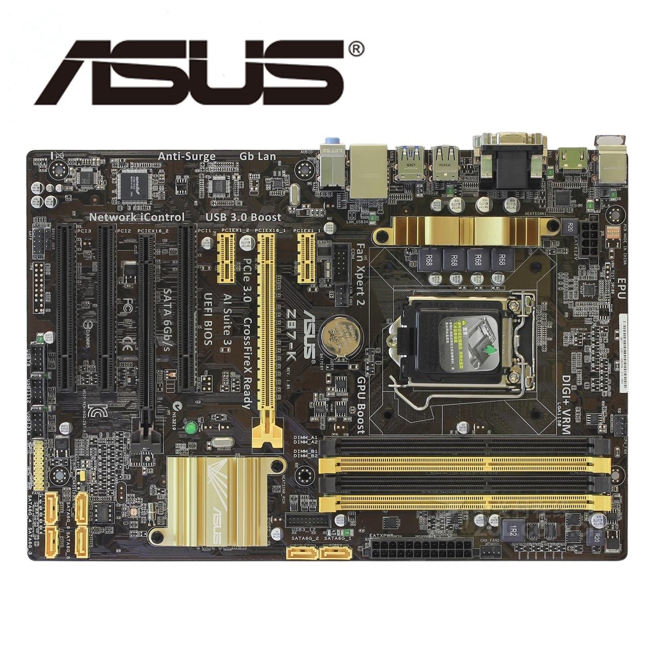 LGA1150 DDR3 Z87 Para ASUS Z87K Motherboard32G Z87-k 100% Original Mainboard Desktop placa Mãe USB3.0 SATA III VGA OC Usado