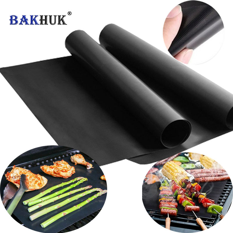 Bakhuk 0 2mm Thick Ptfe Barbecue Grill Mat 33 40cm Non