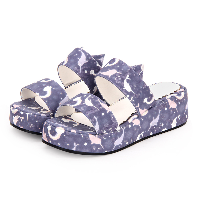 Frau Blau Schuhe purpurrot Lolita Größe 8980 Sandalen weiß Neue Mori Impressum Mädchen Cosplay 44 Plattform Mode Angelic 36 ZxBq50waW