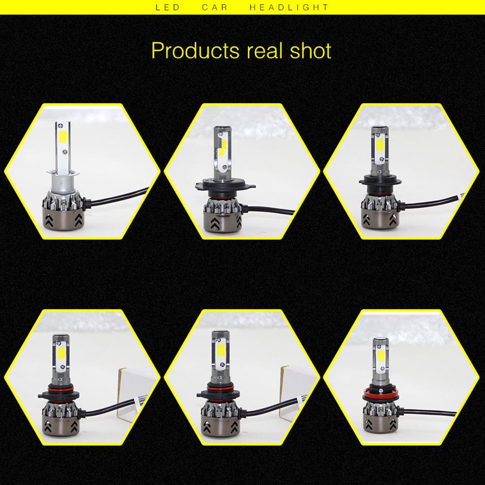Передний фонарь светодиодный фар супер яркий светодиодный фонарь безопасности сборка осветительного оборудования H4/HB2/9003 8000LM Универсальный 80 Вт высокой мощности Мощность