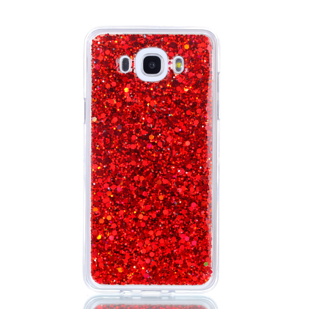 For Samsung J 7 2016 Shining Case Soft Silicone TPU Frame Colored Shiny Glitter Back Cover Case for Samsung Galaxy J7 2016 5.5
