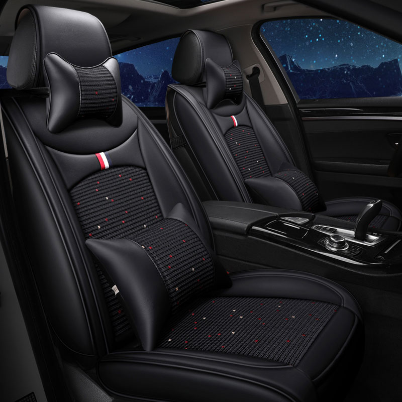 front rear leather car seat covers pad automobile cushion for hyundai starex veracruz verna accent