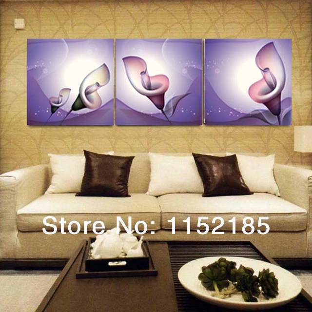 hot sale affordable wall art flower canvas painting modern flower canvas wall art home decoration paintings 3 pieces set