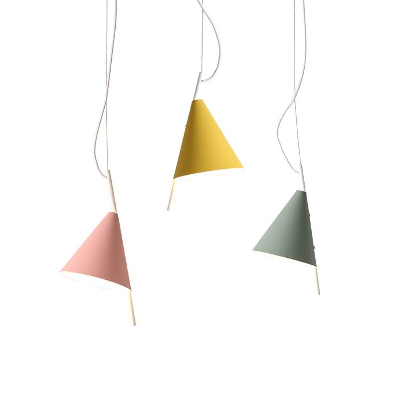 Nordic Model Pendant Lights Macaron Colorful Lovey Kids Room Bedroom Foyer  LED Droplight Green Pink Yellow ...