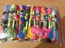 Choose Any CXC Threads Number Total 100 Skeins Of Thread your color Embroidery Cross Stitch Floss Similar DMC tanie tanio oneroom cartoon Paintings Folded 100 Polyester Europe Other Textile Fabric Creative (Winebottle Umbrella)