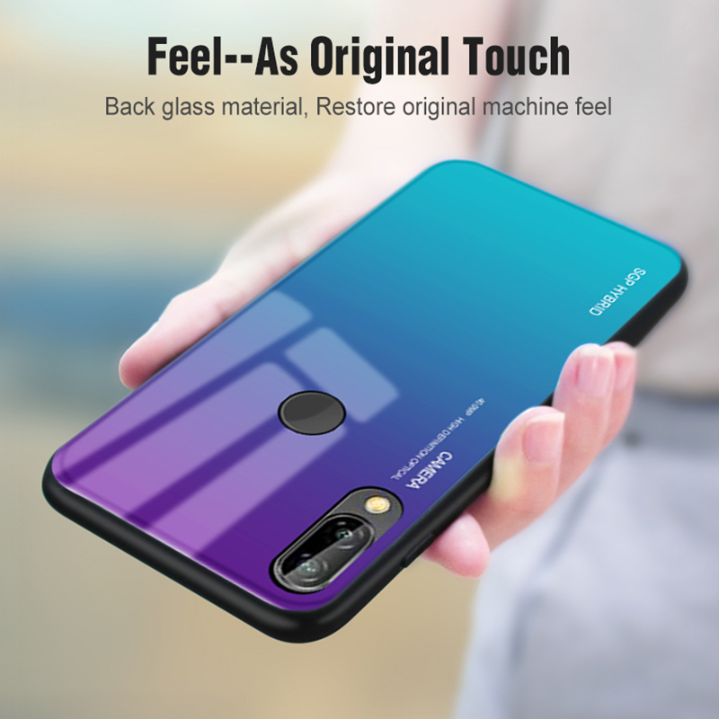Gradient Tempered Glass Phone Shell With Black Glass Material For Mobile Phones 11