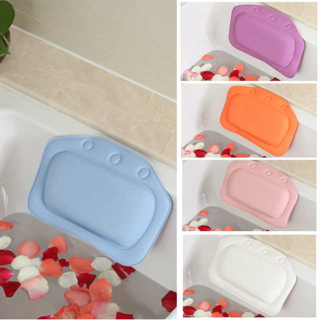 4 Colors Bathroom Supplies waterproof bathtub spa bath pillow with ...