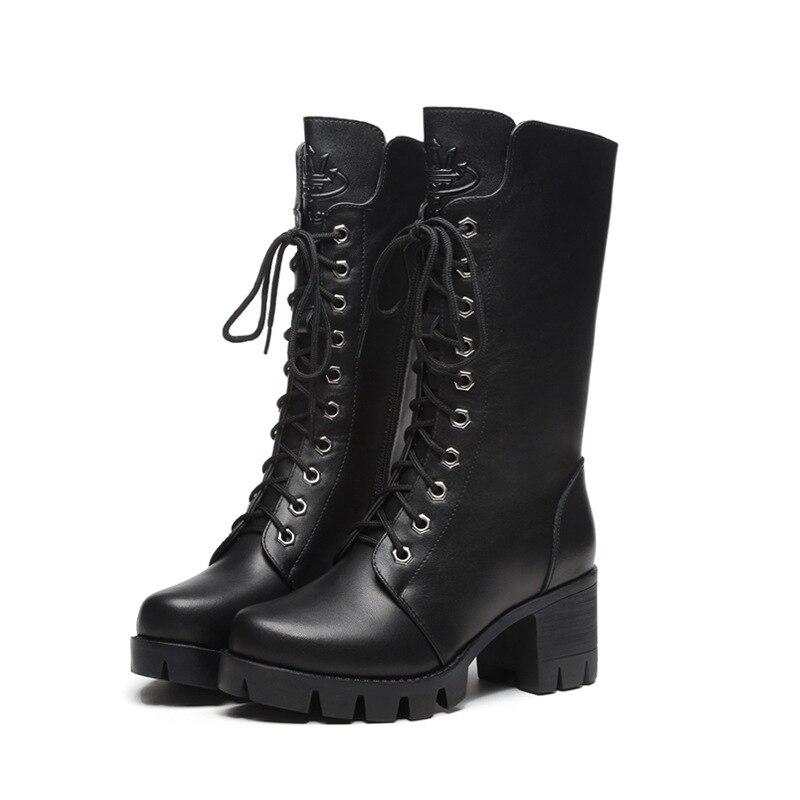 Hauts D'hiver Bottes À Cachemire Chaussures Femme 1 Nouveau Nouvelles Talons Martin Hiver Épais Coton 2018 gwqnSWHnP