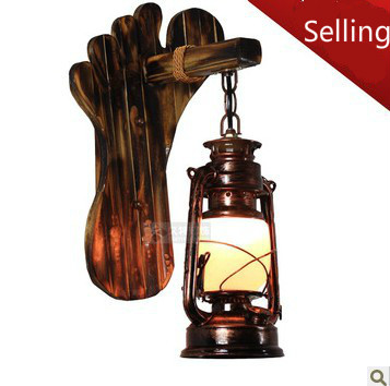 Antique wall lamp vintage living room bedroom bedside lamp LED lighting stair lamps lantern - 2