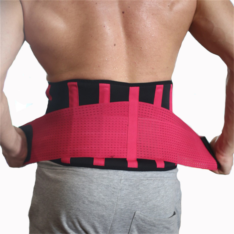 Unisex Ajustable Waist Support Brace Fitness Gym Lumbar Back Waist Supporter Protect For Sports Safety High Elastic Belt
