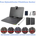 3 Gifts 10.5 Inch Universal Micro USB Keyboard for Samsung Galaxy Tab S 10.5 T800 T805 Russian/Spanish/French Keyboard Layout