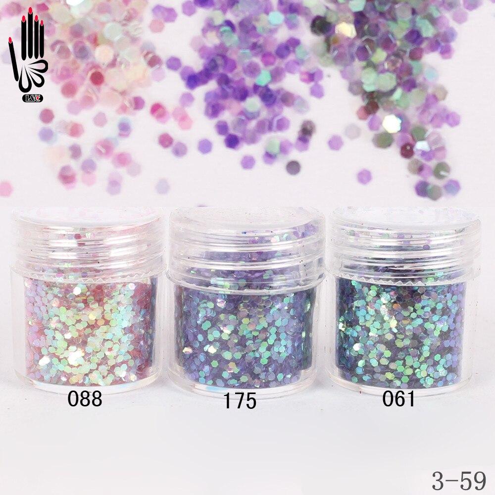 Nagelglitzer Humorvoll 1 Glas/box 10 Ml 3 Bunte Rosa Lila Glitter Hex Pailletten Pulver Papier Für Nail Art Dekoration Optional 300 Farben 3-59 KöStlich Im Geschmack