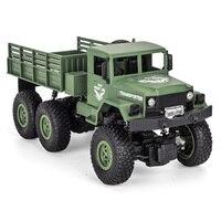 1/18 2.4G 6WD RC Military Truck Car 6 Wheel Remote Control Off road Rock Crawler Truck Model Army Auto Trucks Boy Children Toys