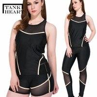 Tank Heart Rash Guard Women Rashguard Lycra Surf 3 Pieces Plus Size Swimwear Women Long Sleeve Swimsuit Outdoor Sport Suit Women