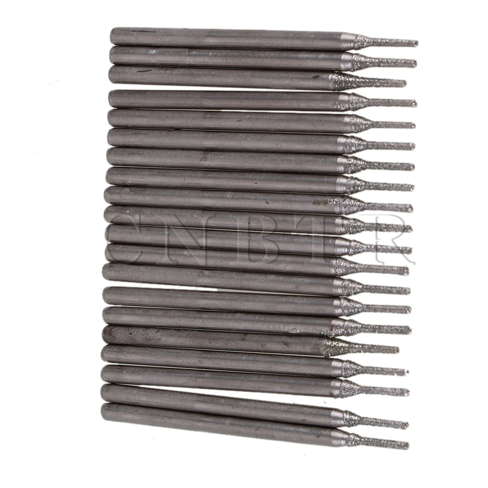 CNBTR 20pcs Lapidary Diamond Coated Hole Drill Solid Bits Needle Gems Glass Tile 1mm best promotion 10pcs set diamond holesaw 3 50mm drill bit set tile ceramic porcelain marble glass top quality