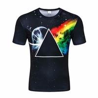Fashion Casual T Shirt Men Women Fashion 3d Tshirt Print Geometry Triangle Space Galaxy T Shirt