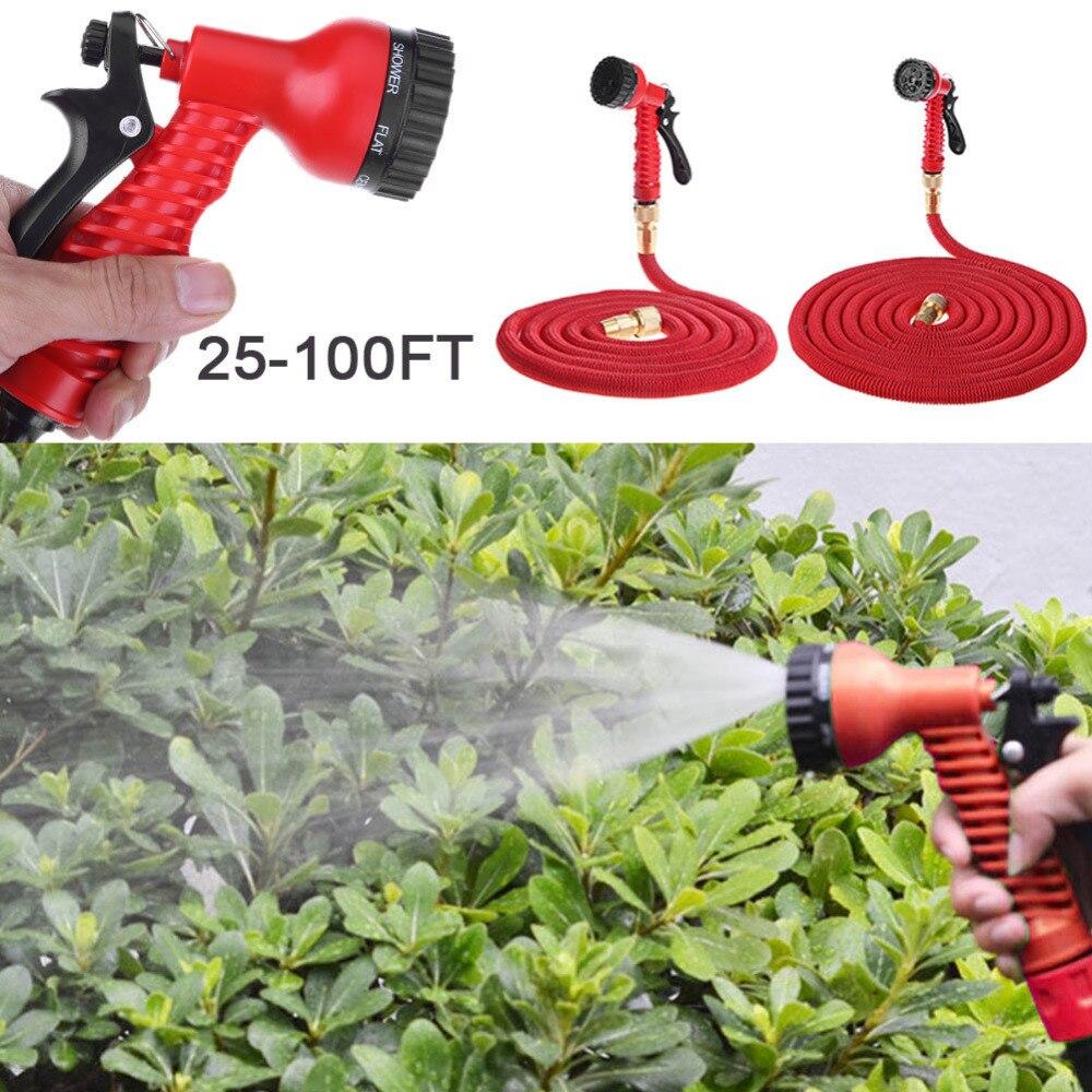 25FT-150FT Garten Schlauch Erweiterbar Magie Flexible Wasser Schläuche Rohr Bewässerung Spritzpistole für Auto Garten Rohr Mit Spritzpistole Zu wasser