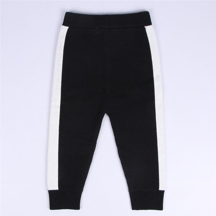 Fashion INS Autumn cotton childrens Knit pants striped pattern capris baby boy girl leggings 6 color