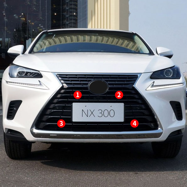 For LEXUS <font><b>RX200T</b></font> RX300 RX450H NX200 NX300H Accessories 2018 Stainless Steel Front Bumper Grille Insects Prevention Nets Cover image