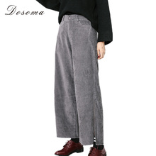Wide leg corduroy pants for women online shopping-the world