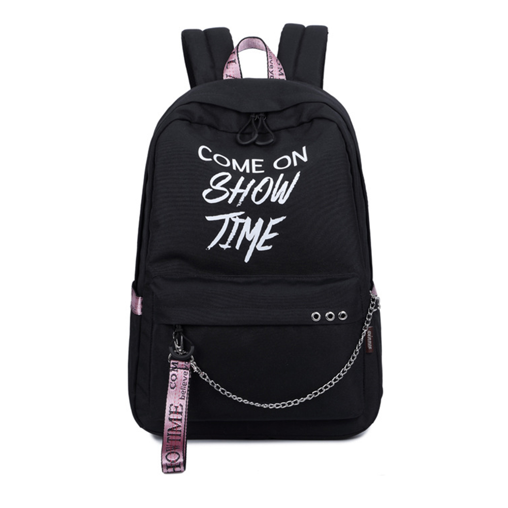 Fashion Luminous Waterproof Women Daily Backpacks College Student Bookbags Reflective Bagpack For Girls School Knapsack #2