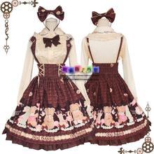 Японский мультфильм милый Лолита принцесса дворец аниме медведь JK осень зима ежедневно обувь для девочек студент Слинг юбка Mori girl