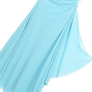 Image 5 - IEFiEL ילדי פרח בנות שמלת ילדים נסיכת אחד כתף ריינסטון שיפון שמלת מסיבת חתונת תחרות כדור שמלות שמלות