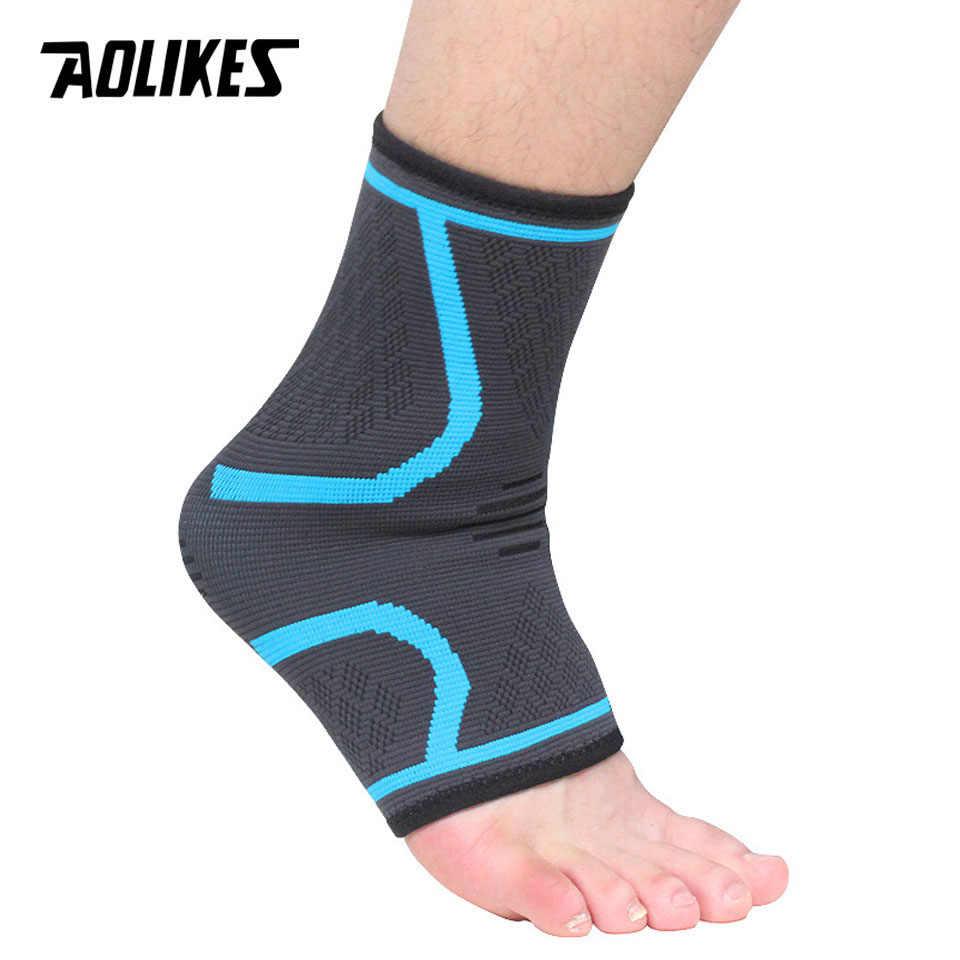 AOLIKES 1PCS Ankle Brace Compression Support-Sleeve Elastische Atmungsaktiv für Verletzungen Recovery Joint Schmerzen femme Fuß Sport Socken