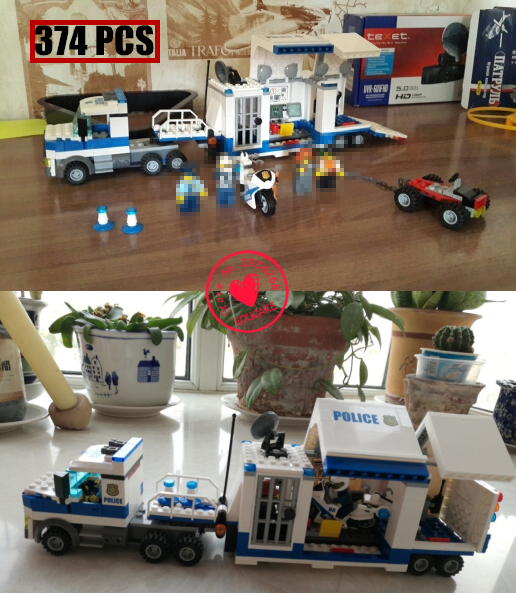 02017 City Police policemen Series Educational Children lepin model Building kits Blocks Moving Command Car Genuine Boy Gift city series police car motorcycle building blocks policeman models toys for children boy gifts compatible with legoeinglys 26014