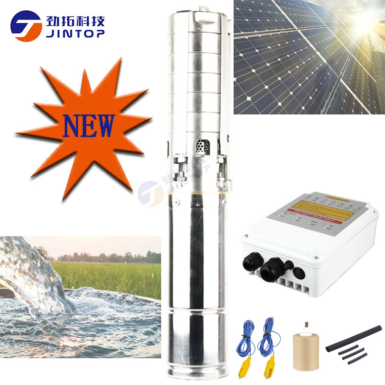 2019 New (MODEL 4JTSC5.5/58-D48/750) JINTOP SOLAR SUBMERSIBLE <font><b>PUMP</b></font> <font><b>1HP</b></font> DC Brushless solar <font><b>water</b></font> <font><b>pump</b></font> with permanent magnet motor image